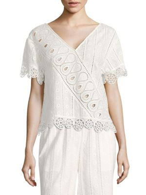 Broderie Anglaise Popover Top by Opening Ceremony
