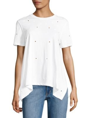 Ellie Eyelet Tee by Opening Ceremony