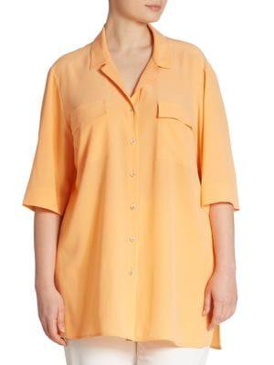Fran Silk Blouse by Lafayette 148 New York, Plus Size