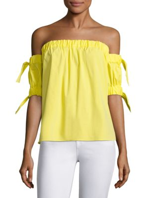Bow Off-The-Shoulder Top by MILLY
