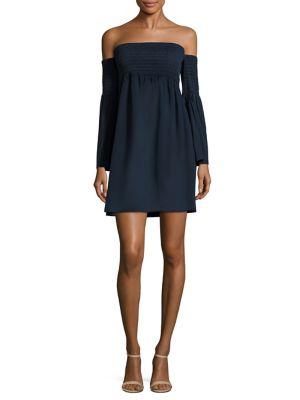 Jodi Off-The-Shoulder Cotton Poplin Dress by MILLY