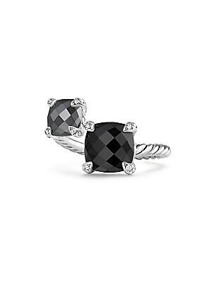1a1899e11a486 David Yurman - Cable Wrap Ring with Prasiolite and Diamonds - saks.com