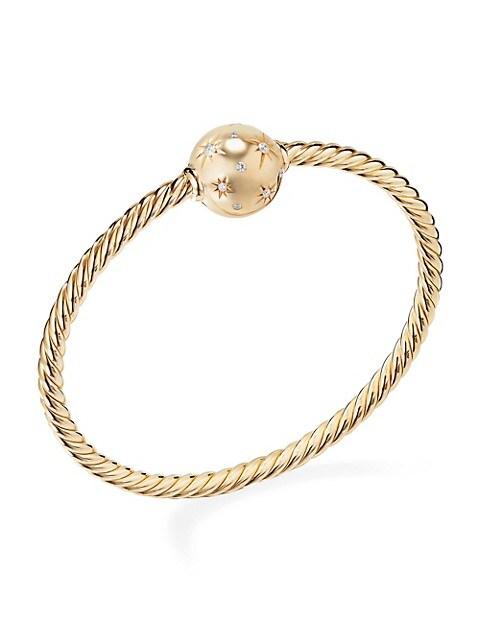 Solari Station Bracelet with Diamonds in 18K Yellow Gold