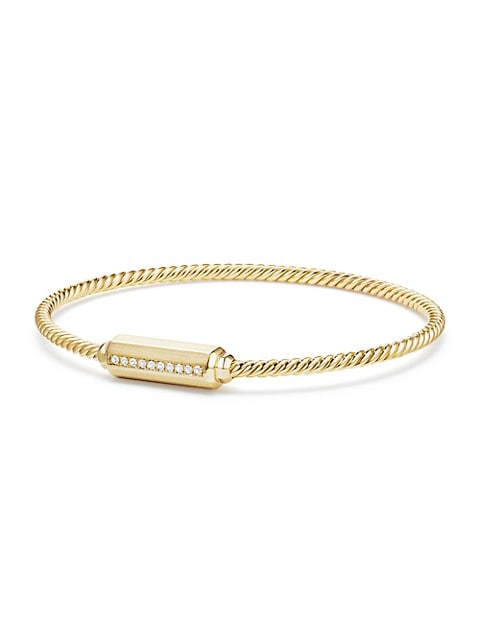 Barrels 18K Yellow Gold & Diamond Bracelet