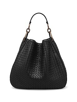 8545d4d1bd QUICK VIEW. Bottega Veneta. Woven Nappa Leather Hobo Bag
