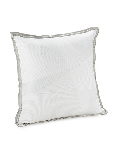 """Image of From the Vivara Collection. Embroidered cotton-blend and down filled throw pillow with velvet border.22""""W x 22""""L.Cotton/rayon. Fill: Feathers/down. Dry clean. Imported."""