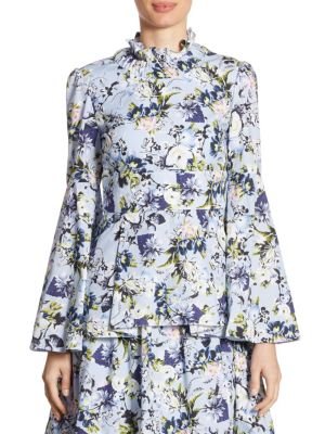Miriam Floral-Print Top by Erdem