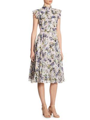 Buy Erdem Reba Ruffled Floral-Print Silk Dress online with Australia wide shipping