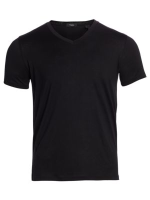 Theory Claey Plaito Regular Fit V Neck Tee
