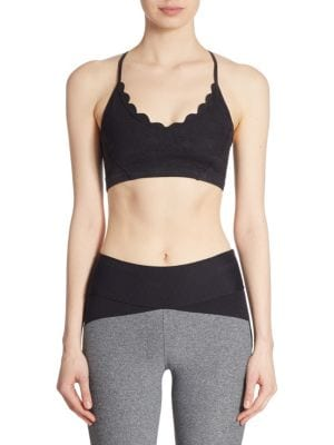 Sweet Escape Scalloped Sports Bra by Track & Bliss