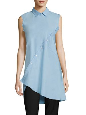 Asymmetrical Cotton Poplin Shirt by EACH X OTHER