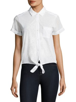 Cropped Shirt by Stateside