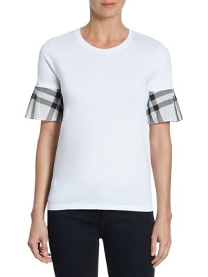 Covelas Cotton Tee by Burberry