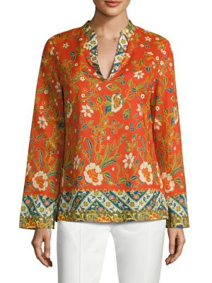 Buy Tory Burch Stephanie Floral-Print Cotton Poplin Tunic online with Australia wide shipping