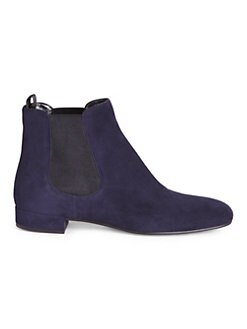 Suede Chelsea Booties NERO. Product image