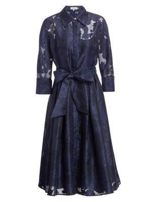 Skirt Framed Ribbon Waistline Dress
