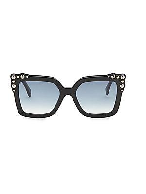 7cf82f26818 Fendi - 52MM Crystal-Embellished Square Sunglasses - saks.com