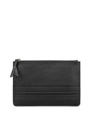 GRAPHIC IMAGE Large Pebbled Leather Pouch in Black