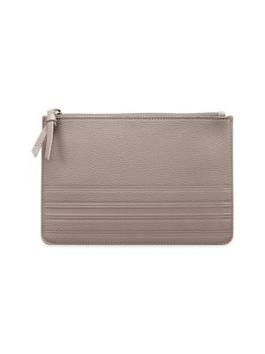 GRAPHIC IMAGE Medium Pebbled Leather Pouch in Stone