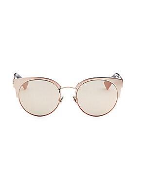 2301ade805b1 Dior - Diorama Mini 54MM Mirrored Cat Eye Sunglasses - saks.com
