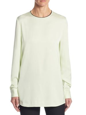 Blended Silk Tie-Back Blouse by Victoria, Victoria Beckham