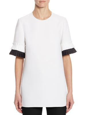 Pleated Sleeve Top by Victoria, Victoria Beckham