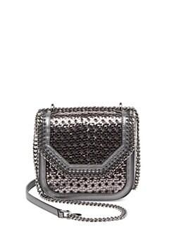 Stella McCartney Falabella Box Mini Wicker Metallic Faux Leather Crossbody  Bag eedf073817c99