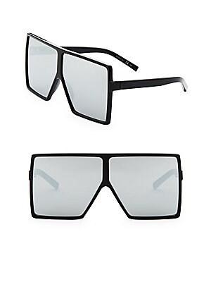 98be9e0a2d4 Saint Laurent - SL 183 Betty 68MM Oversize Mirrored Shield Sunglasses -  saks.com