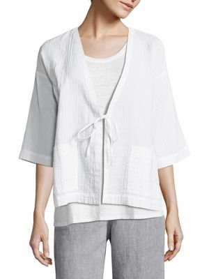 Organic Cotton Kimono Jacket by Eileen Fisher