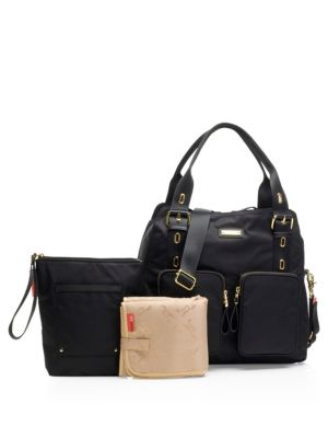 STORKSAK Alexa Diaper Bag in Black