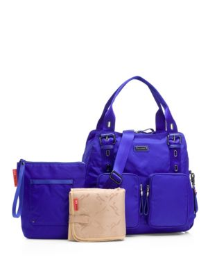 STORKSAK Alexa Diaper Bag in Indigo