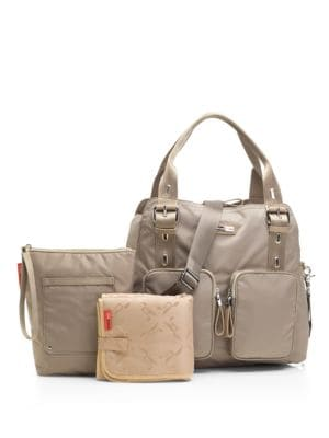 STORKSAK Alexa Diaper Bag in Taupe