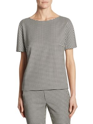 Ares Wool Houndstooth Blouse by Max Mara
