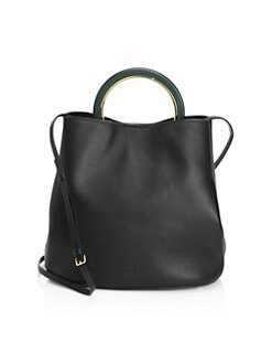 Quick View Marni Leather Crossbody Bucket Bag