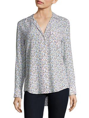 Kiera Floral-Print Silk Shirt by Equipment