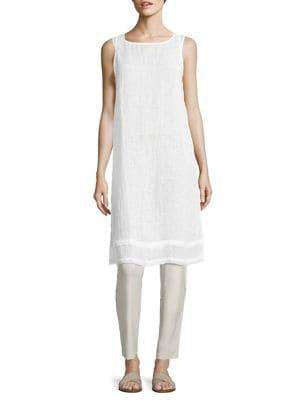 Organic Linen Gauze Tunic by Eileen Fisher