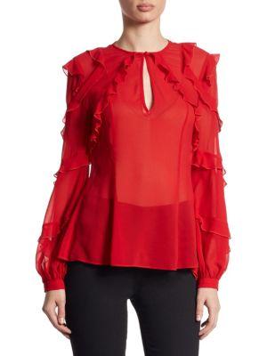Ruffled Silk Georgette Blouse by NICHOLAS