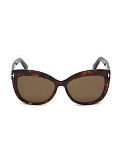 6da0b857be74 Tom Ford. Alistair 56MM Cat Eye Sunglasses