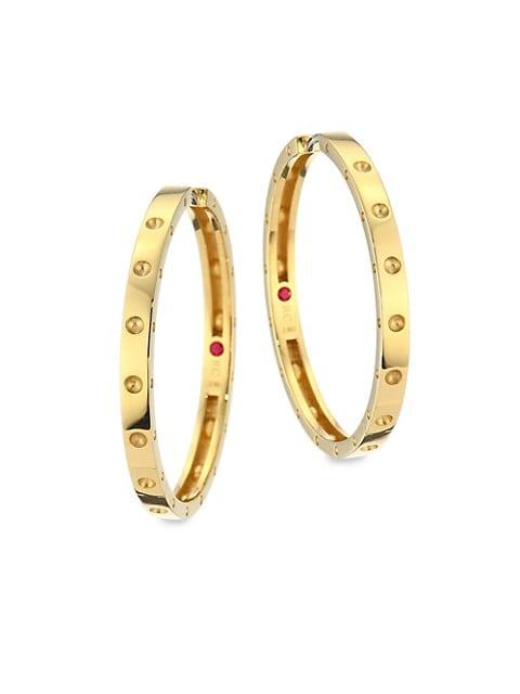 Pois Mois Large 18K Yellow Gold Hoop Earrings