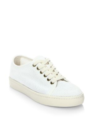 Soludos Leathers Mesh Lace-Up Sneakers