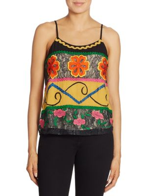 Moran Embroidered Camisole by Alice + Olivia