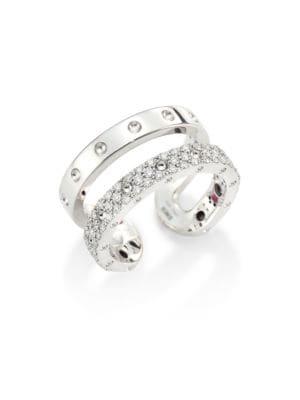 Double Symphony Diamond & 18K White Gold Ring