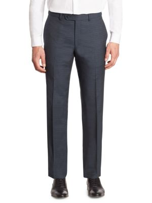 Saks Fifth Avenue  COLLECTION Tonal Plaid Wool Pants
