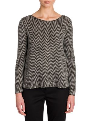 Herringbone Wool Top by Giorgio Armani