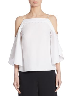 Cotton Cold Shoulder Top by Peter Pilotto