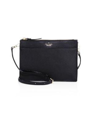 Cameron Street Clarise Leather Shoulder Bag - Black