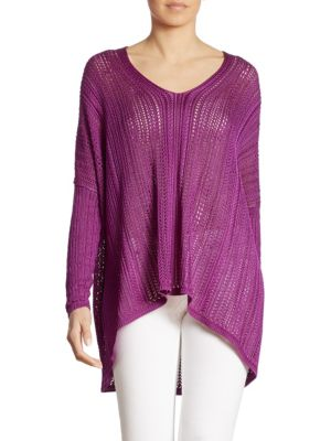 Silk Poncho Top by Ralph Lauren Collection