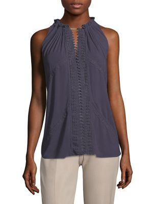 Brianna Lace Inset Blouse by Elie Tahari