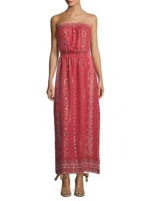 Buy Joie Mariele Metallic Silk Strapless Maxi Dress online with Australia wide shipping