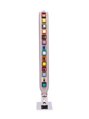 Dolce Bicolor Abs Studded Shoulder Strap For Handbag, Gray/White, Multi